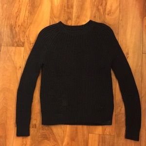 Girls navy blue knit sweater
